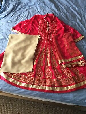 Indian Pakistani Party Wedding Heavy Embroidered Anarkali Kameez Trousers Suit