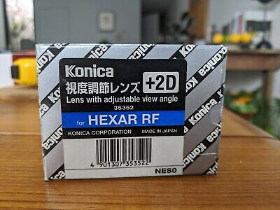 Konica Hexar RF Lens with adjustable view angle +2D (Diopter)