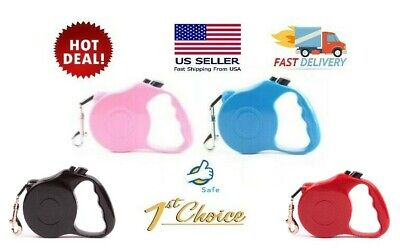 Dog Leash Retractable 16.5ft ~ USA Fast Ship~ Auto Traction Pet Collar