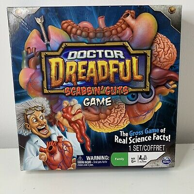 Dr Doctor Dreadful Scabs N' Guts Board Game Science Spin Master 2011 Complete