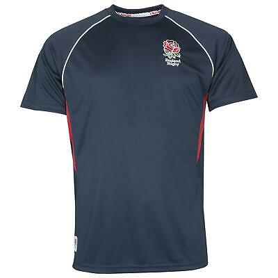 Official England RFU Rugby Kids Panel Poly T-shirt | Navy | New 2020 Season