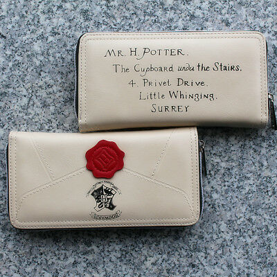 Harry Potter Letter Wallet School Hogwarts Envelope Zip Clutch Owl Purse Tags