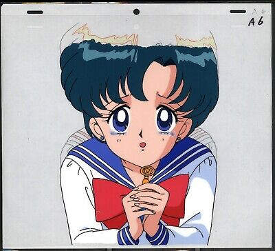 Sailor Moon Anime Production Cel Amy Mizuno Mercury