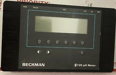 Beckman Phi 720 pH Meter Cat. 143806 ATC Reference RS232 12V DC No PS