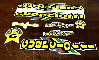 NOS new old stock Guerciotti 1984 Bicycle Decal Set Black// gold