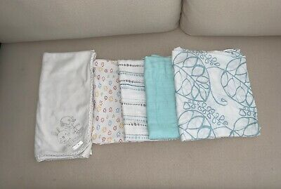 Grobag, Aden and Anais & Baby Patch swaddles