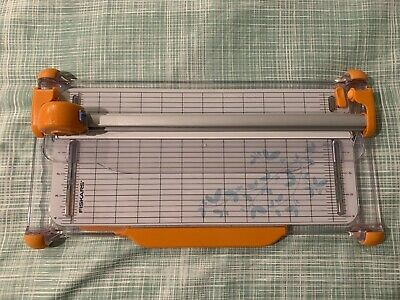 """FISKARS 12"""" PORTABLE ROTARY PAPER TRIMMER + replacement cutter wheels"""