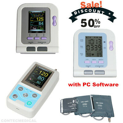 CONTEC Digital /Ambulatory Blood Pressure Monitor NIBP Machine+USB,Optional SpO2