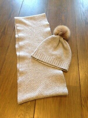 Jigsaw Junior Girls Grey Hat And Scarf