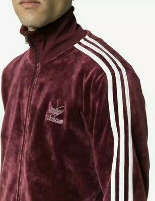 ADIDAS ORIGINALS VELOUR Bb Tracktop Maroon Bnwt Size Large