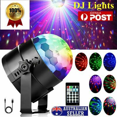 LED Disco Ball DJ Party Light USB RGB Effect Strobe Remote Auto Sound Activated