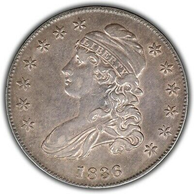 1836 O-108 Capped Bust Half Dollar - 1836/1336! AU example!