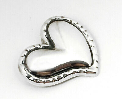 Vintage TC-219 Mexico Sterling Silver Large Puffy Heart Brooch Pin 20.4 Grams