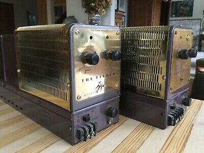 Great playing pair of Fisher 80AZ tube amps with nice cosmetics