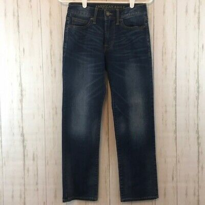 American Eagle Outfitters Original Straight Jeans Extreme Flex 26X28 Med Wash
