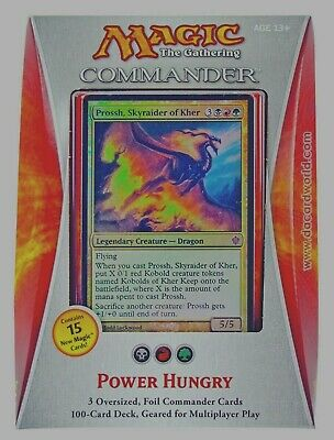EDH Unboxed Magic Cards ***Power Hungry*** Commander 2013 Sealed English Deck