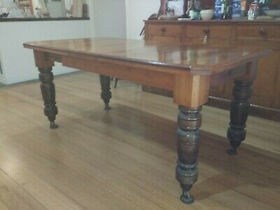 antique extending timber table