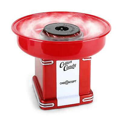 APPAREIL MACHINE BARBE A PAPA oneConcept Candyland 2 RETRO ANNEES 50 500W ROUGE