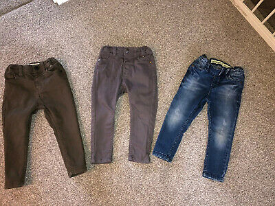 Boys 18- 24 Mnths/2-3 Yrs Denim & Co Skinny Jeans X3 Excellent Condition