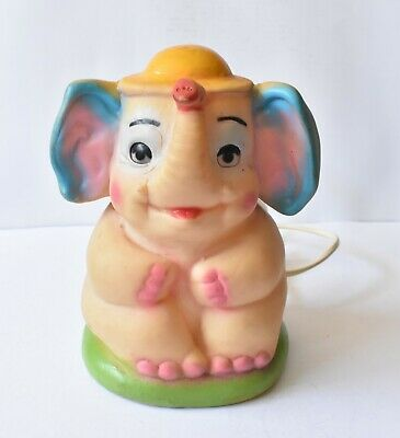 Rare Vintage PVC Dumbo Elephant Child's Night Light Netta Australia