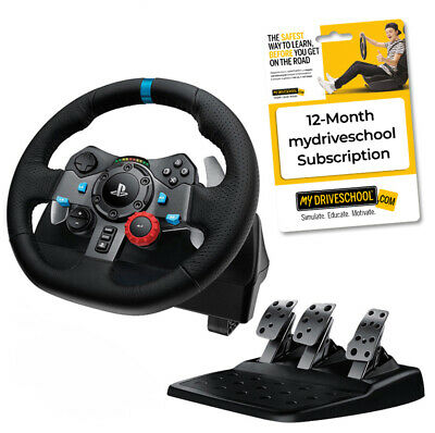 Logitech G29 Driving Force Racing Wheel with myDRIVESCHOOL 12-Month Subscription