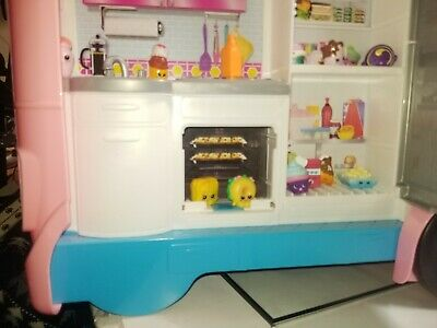 Used Mattel Barbie Dream Camper Pink RV Bus Home Van Motor Playset