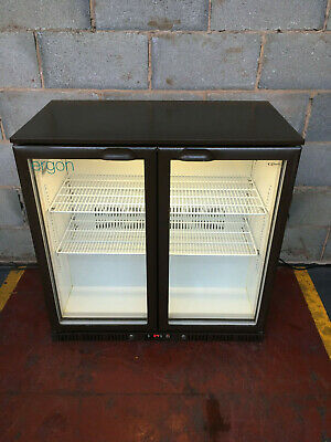 Cornelius 2 Door Brown Under Counter Drinks Display Bar Chiller/ Cooler/ Fridge