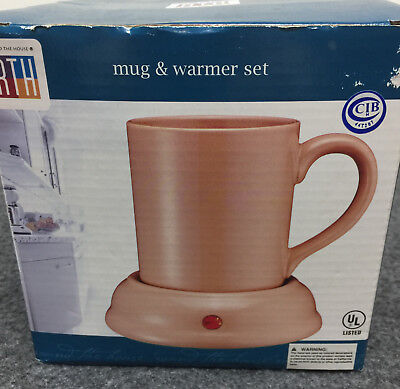 Mug and Warmer Set 5 Foot Cord On Off Switch RTH  Round the House Brand New