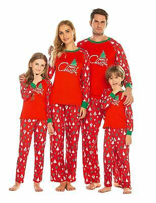 Ekouaer Christmas Family Matching Pajamas Set Long Sleeve Cotton Parent-Child Pj