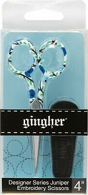 """Gingher 4"""" Inch Embroidery Scissors Designer Series Juniper, From Gingher Inc."""