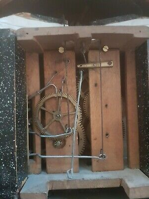 ANTIQUE  CUCKOO CLOCK for Spares or Repair/  WOODEN PLATES MOVEMENT
