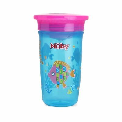Nuby Active Sipeez 360 Degree Maxi Cup in Blue with Fish 6m+ New