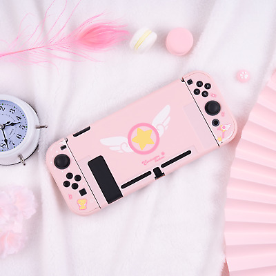 Card Captor Sakura Pink Cover Case For Nintend Switch NS Console Case Protector