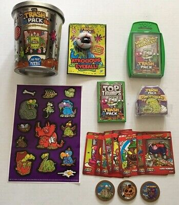 THE TRASH PACK Puzzle, Stickers, Cards, Coins Mixed Lot of 21
