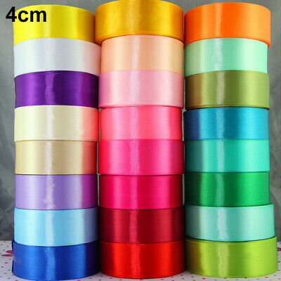 25yds Solid Color Satin Ribbon Bow DIY Craft Sewing Supplies Wedding Party Decor