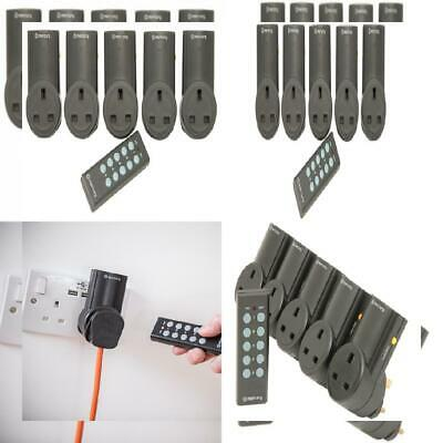 Mercury | Remote Control Mains Socket Adaptors | Set of 5 5, Black