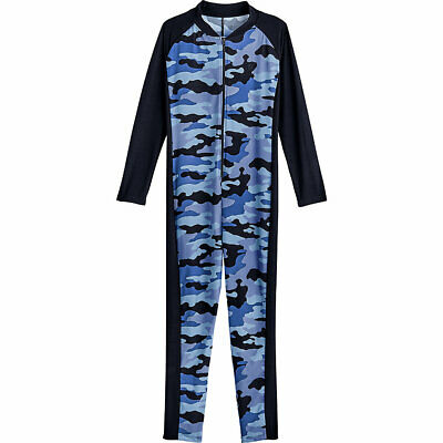 Coolibar UPF 50+ Kid's Barracuda Neck-to-Ankle Surf Suit