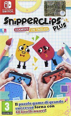 Snipperclips Plus Diamoci Un Taglio Nintendo Switch Nuovo Sigillato Pal Italiano