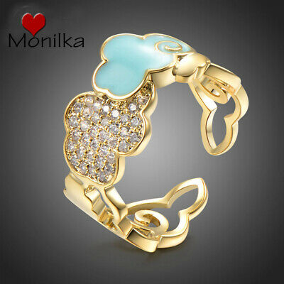 Women Fashion Jewelry Adjustable Finger Blue Cloud Rings  for valentine day Gift