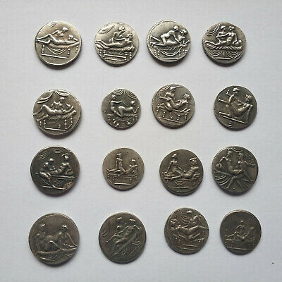 Roman Coins 16 Erotic Brothel Tokens Spintriae