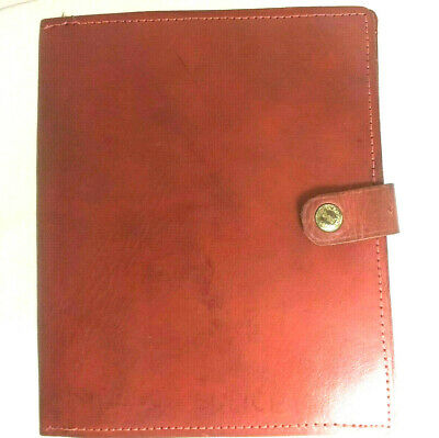 "Vintage Brown Leather Photo or Notebook Holder / Cover 6"" x 7.25"" 1950s"