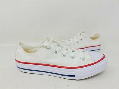 NEW! Converse Youth Unisex Lace Up Low Top Shoes White #3J256 Z-Shelf tk