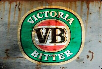 VB Vic beer Victoria Bitter new tin metal sign MAN CAVE