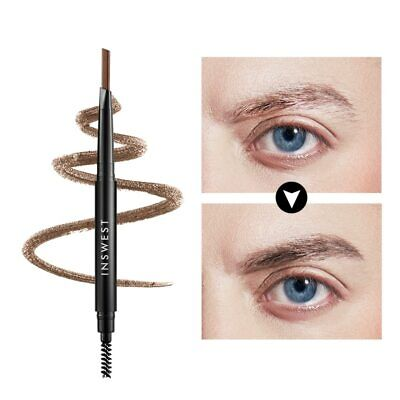 2color Men Double Ended Eyebrow Pencil Waterproof Smudge-proof Pencil with Brow