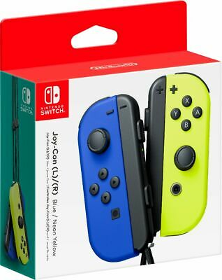 Joy-Con (L/R) Wireless Controllers for Nintendo Switch - Blue/Neon Yellow