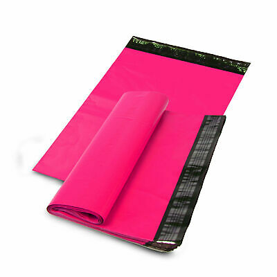 100 PCS 12x15.5 HOT PINK Poly Mailers Shipping Envelope Shipping Bags Boutique