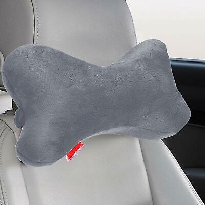 Dog Bone Shaped Travel Neck Pillow Memory Foam Car  Driving Comfort Head Support