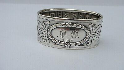 Beautiful Antique Norway J.tostrup 830 Silver Napkin Ring 22.6 Grams, Circa 1914