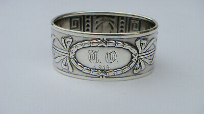 Beautiful Antique Norway J.tostrup 830 Silver Napkin Ring 18.5 Grams, Circa 1914