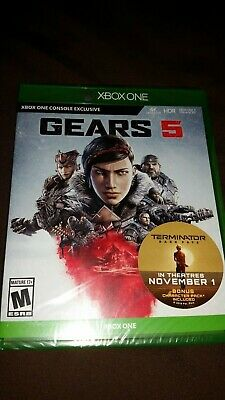 Gears of War 5 w/ Terminator Dark Fate Character Pack Sealed XBOX ONE
